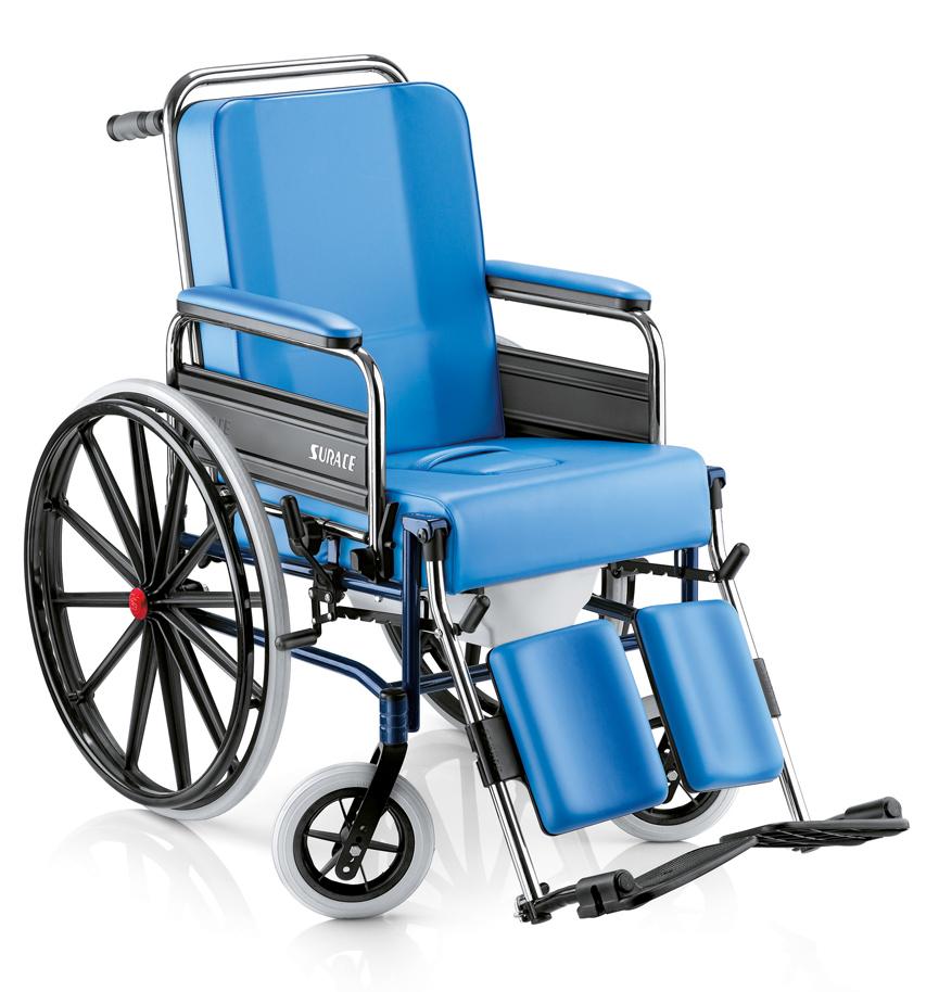 Sedia comoda per disabili articolata con W.C , super imbottita.  787 GRAZIA