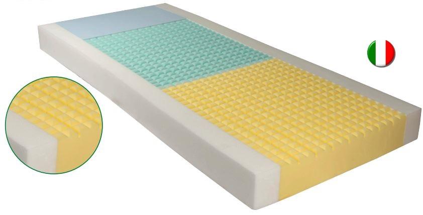 Materasso antidecubito  in poliuretano espanso a quattro densità - H. 14 cm