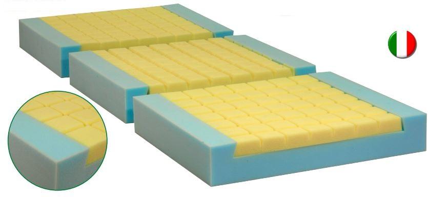 Materasso antidecubito ventilato bicomponente a 3 sezioni - H. 14 cm