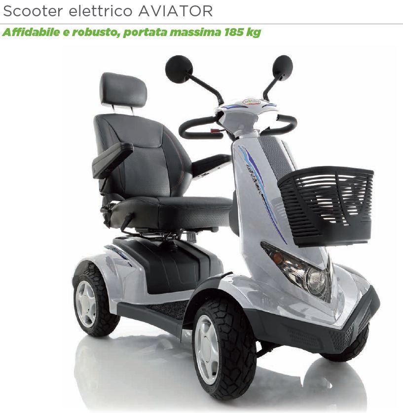scooter elettrico per disabili e anziani modello aviator moretti ardea mobility