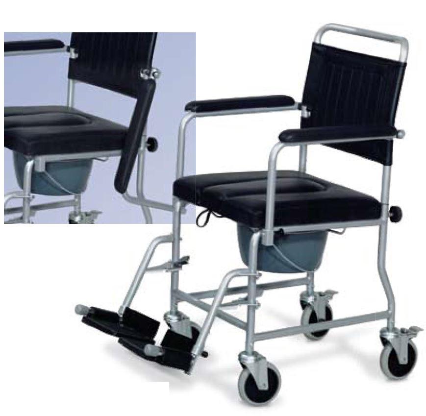 Salute e benessere sedia comoda imbottita - Sedia con ruote ...