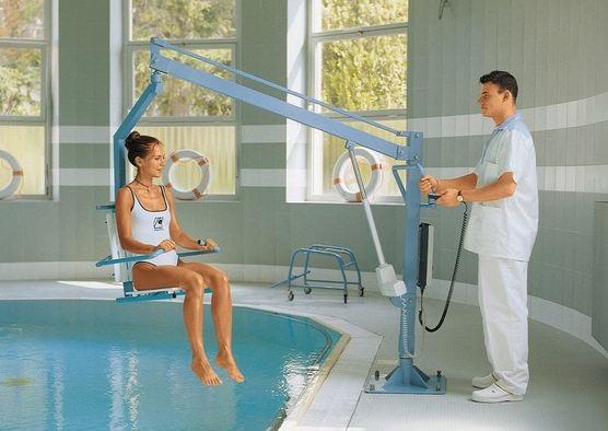 Salute e benessere sollevatore da piscina per disabili chinesport liftpoolseat e - Sollevatore letto ...