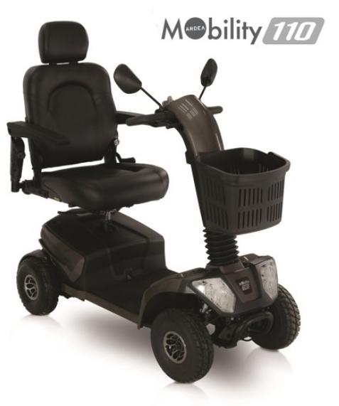 scooter elettrico disabili con 4 ammortizzatori mobility 110