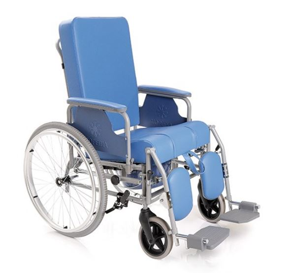 sedia comoda con schienale reclinabile autospinta