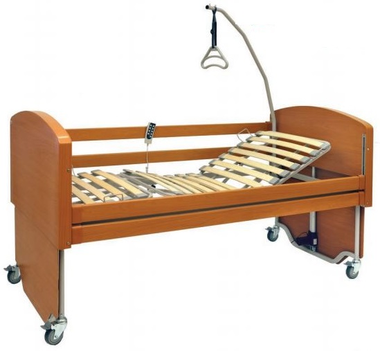 letto elettrico da degenza in legno rebecca