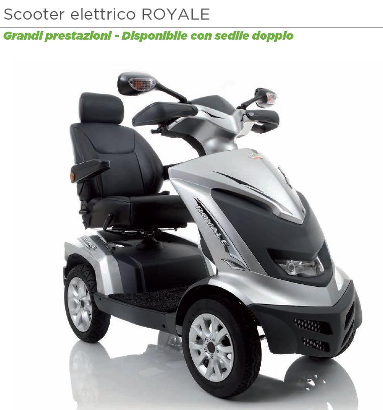 scooter elettrico doppio seduta per due royale ardea mobility