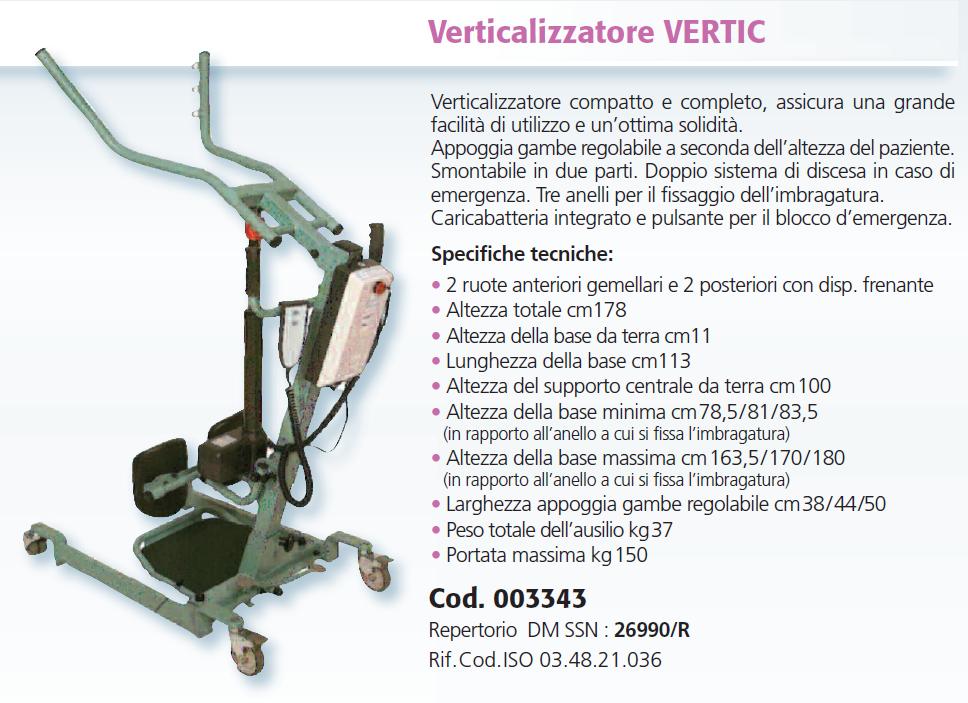 verticalizzatore solleva ammalati vertic mediland